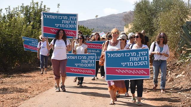 200 women march for peace agreement on Israel's Lebanese border