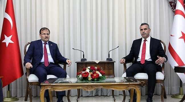 Çavuşoğlu KKTC Meclis Başkanı ile görüştü