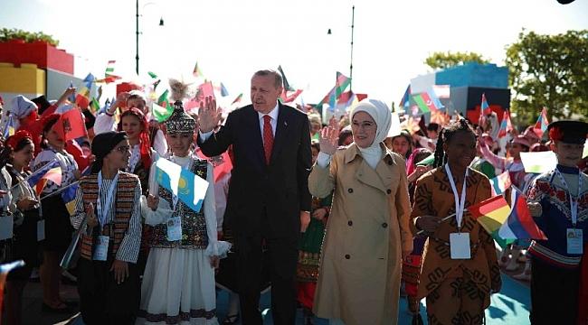 Erdoğan, 'Dünya Çocukları'nı kabul etti