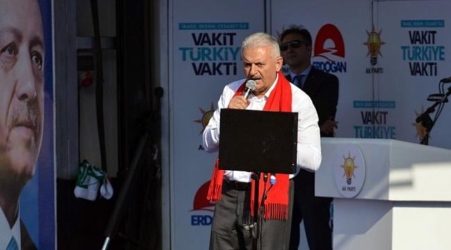 Başbakan Yıldırım Kırklareli'de konuştu