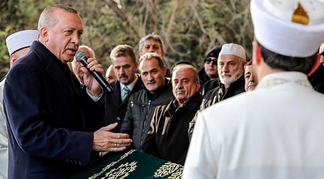 Erdoğan Turgut'un cenaze törenine katıldı