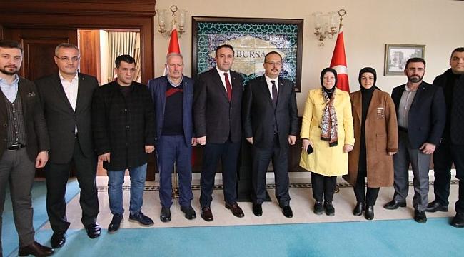 AK Parti Osmangazi'den Vali Canbolat'a ziyaret