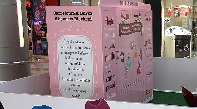 Carrefoursa Bursa'dan Mutluluk Gardrobu projesi