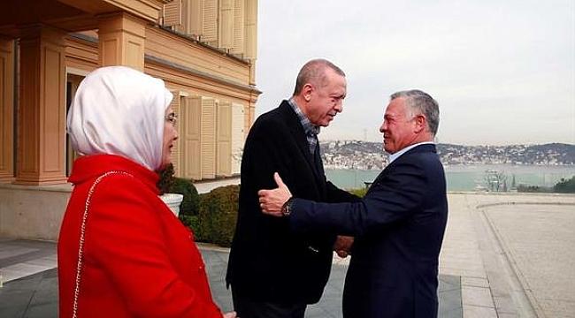 Erdoğan Ürdün Kralı ile bir araya geldi