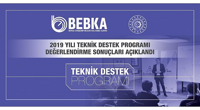 BEBKA Teknik Destek Program Sonuçlarını Açıkladı