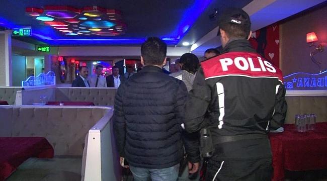 Ankara'da eğlence mekanlarına polis baskını