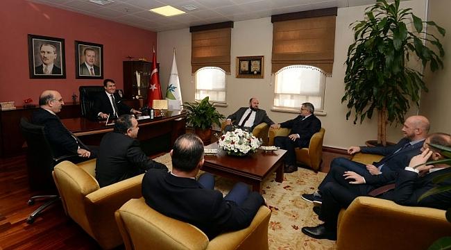 Başkan Dündar Karadağ heyetini ağırladı