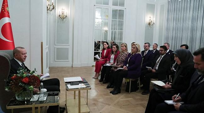 Erdoğan Türk gazetecilerle buluştu