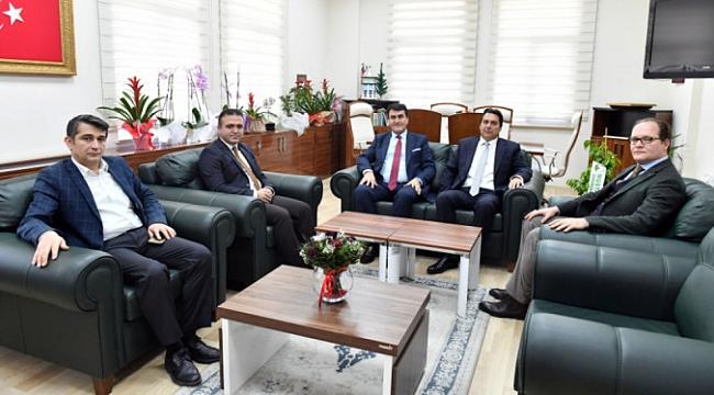 Başkan Dündar'dan AÇSH Müdürü Yılmaz'a ziyaret