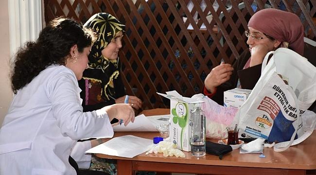 Gemlik'te köylerde sağlık taraması başladı