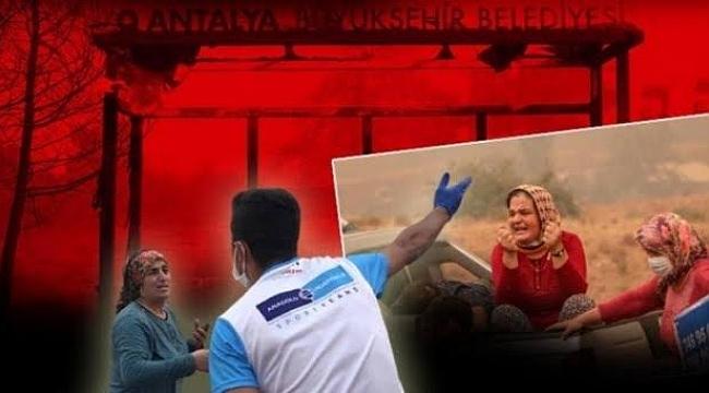 Manavgat'taki yangında inanılmaz anlar